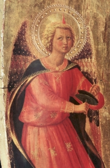 detail from the Pala dei Linaioli by Fra Angelico in Florence, Italy.