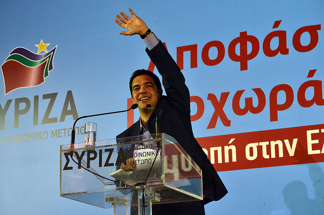 """Elections 2012 - SYRIZA rally - Alexis Tsipras"" by Asteris Masouras, on Flickr"