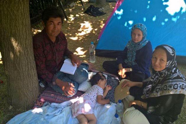 Πρόσφυγες στο Πεδίον του Άρεως (καλοκαίρι 2015)